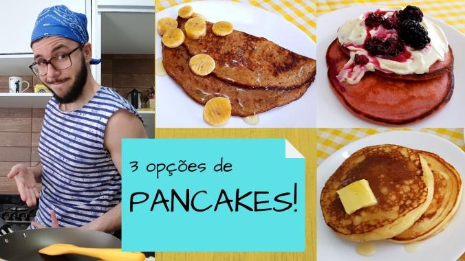 3 opções de pancake para um café da manhã afetivo